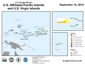 U.S. Drought Monitor: U.S. Affiliated Pacific Islands and U.S. Virgin Islands