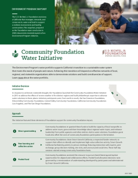 Environment Program Snapshot: Community Foundation Water Initiative